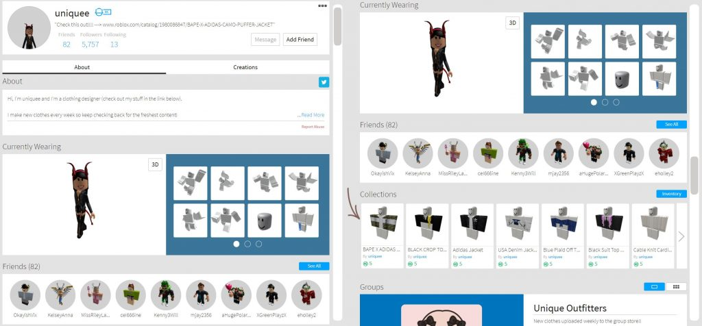 Sell clothes on Roblox
